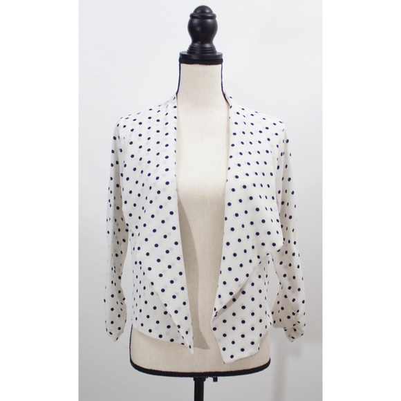 iris Jackets & Blazers - Iris Black and White Polka Dot Jacket Size L